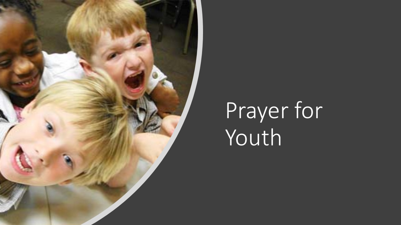 Three children screaming | Pray for the youth of our community